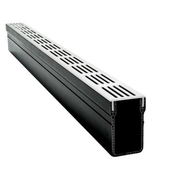 RSSD afvoergoot grijs / aluminium  1000x65x100mm