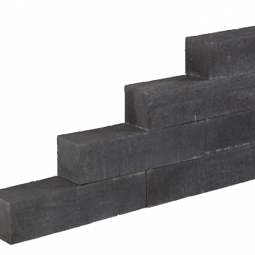 Linea block black 15x15x60